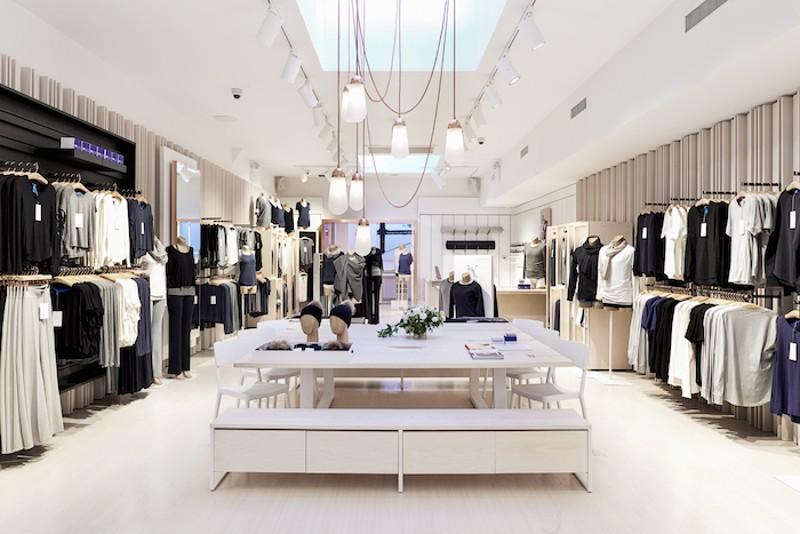 distribución tienda de ropa