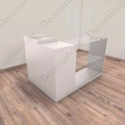 Mostrador frente vitrina L con módulo caja