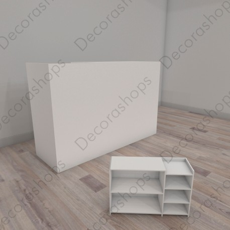 Mostrador con módulo de caja