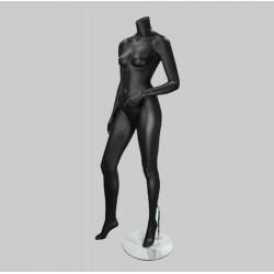 Maniquí mujer negro mate sin cabeza