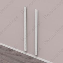 Conjunto dos verticales de madera con cremallera