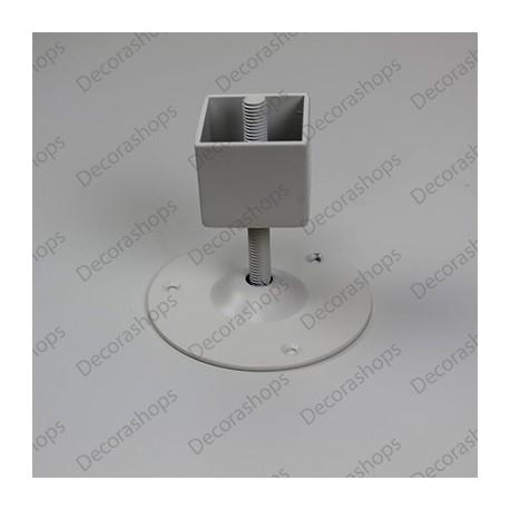 Soporte regulable tubo cremallera 4 lados