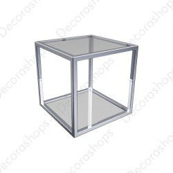 Estantería básica metálica  cristal 1 altura