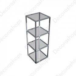Estantería básica metálica  cristal 3 alturas