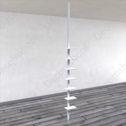 Expositor de calzado vertical suelo a techo con portaprecio