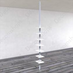 Expositor de calzado vertical dos lados