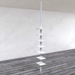 Expositor de calzado vertical dos lados con portaprecio