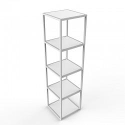 Estantería básica metálica  cristal 4 alturas