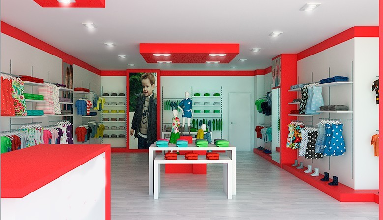 mobiliario tienda ropa infantil